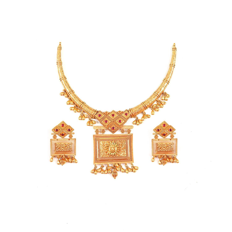 Gold Necklace Set Aarunya 22kt Gold Necklace Set