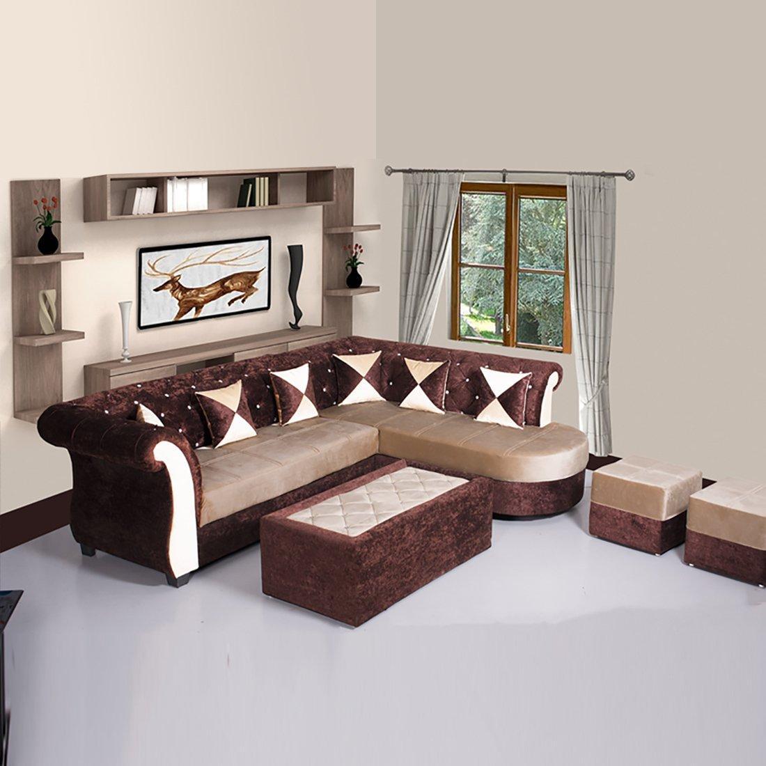 Bharat Lifestyle Dl Diamond Fabric, Diamond Furniture Living Room Sets