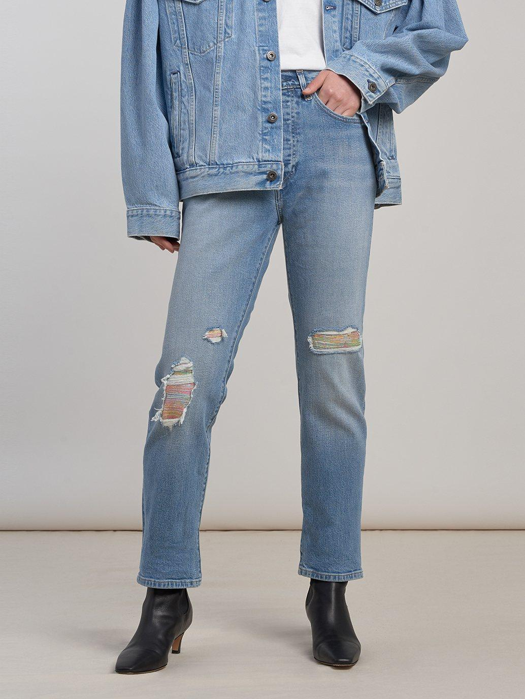 Buy Levi S Made Crafted 501 Original Fit Stretch Women S Jeans Medium Wash Levi S Hk Sar Offi The 501 original fit marlon jeans from levi's come in marlon, featuring a button fly and classic five pocket style. levi s