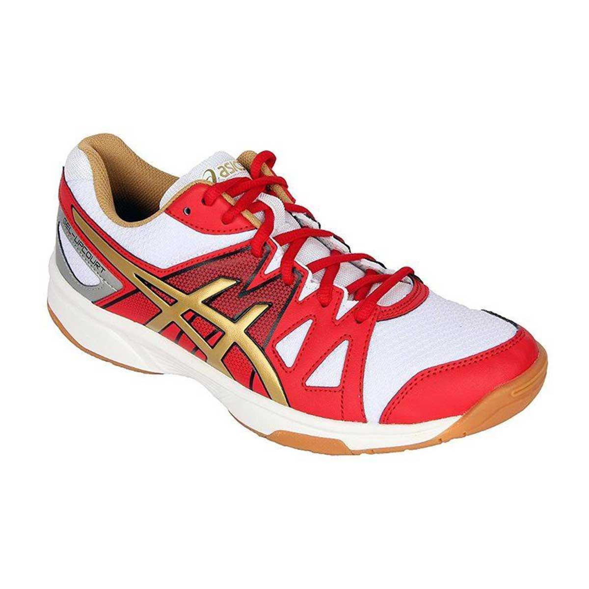 Buy Asics Gel Upcourt Squash Shoes White Gold Grey Online