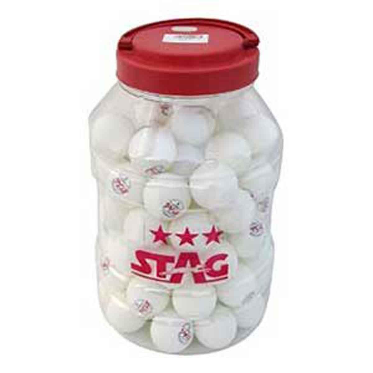 Buy Stag 3 Star Premium White Table Tennis Balls 72 Pack