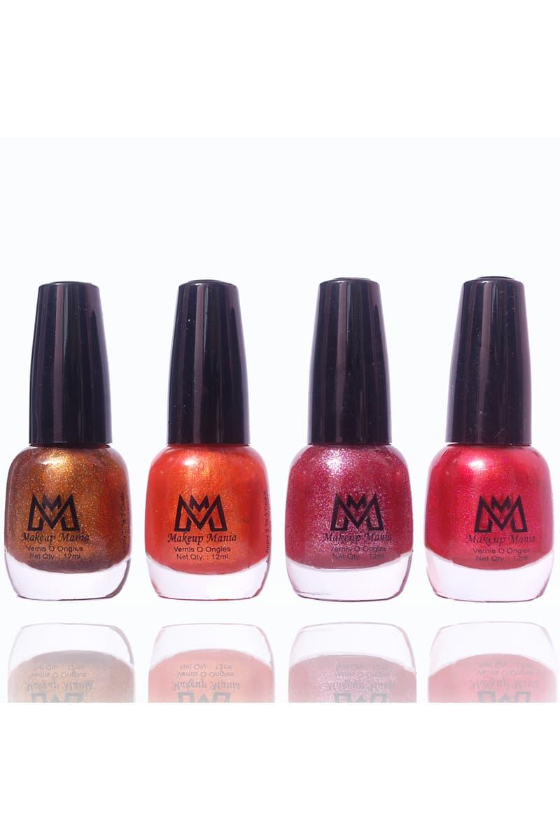 Makeup Mania Nail Paint Set Of 4 Brown