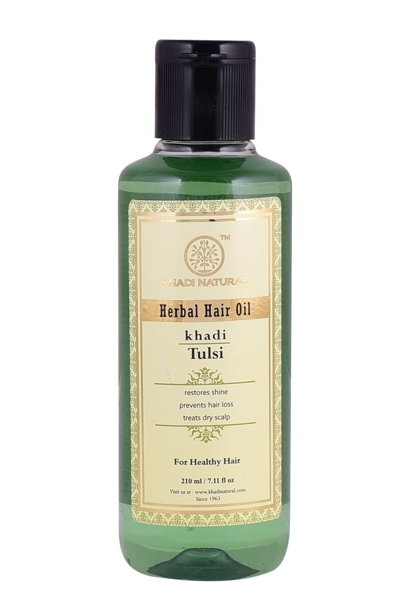 Khadi Natural Ayurvedic Tulsi Hair Oil
