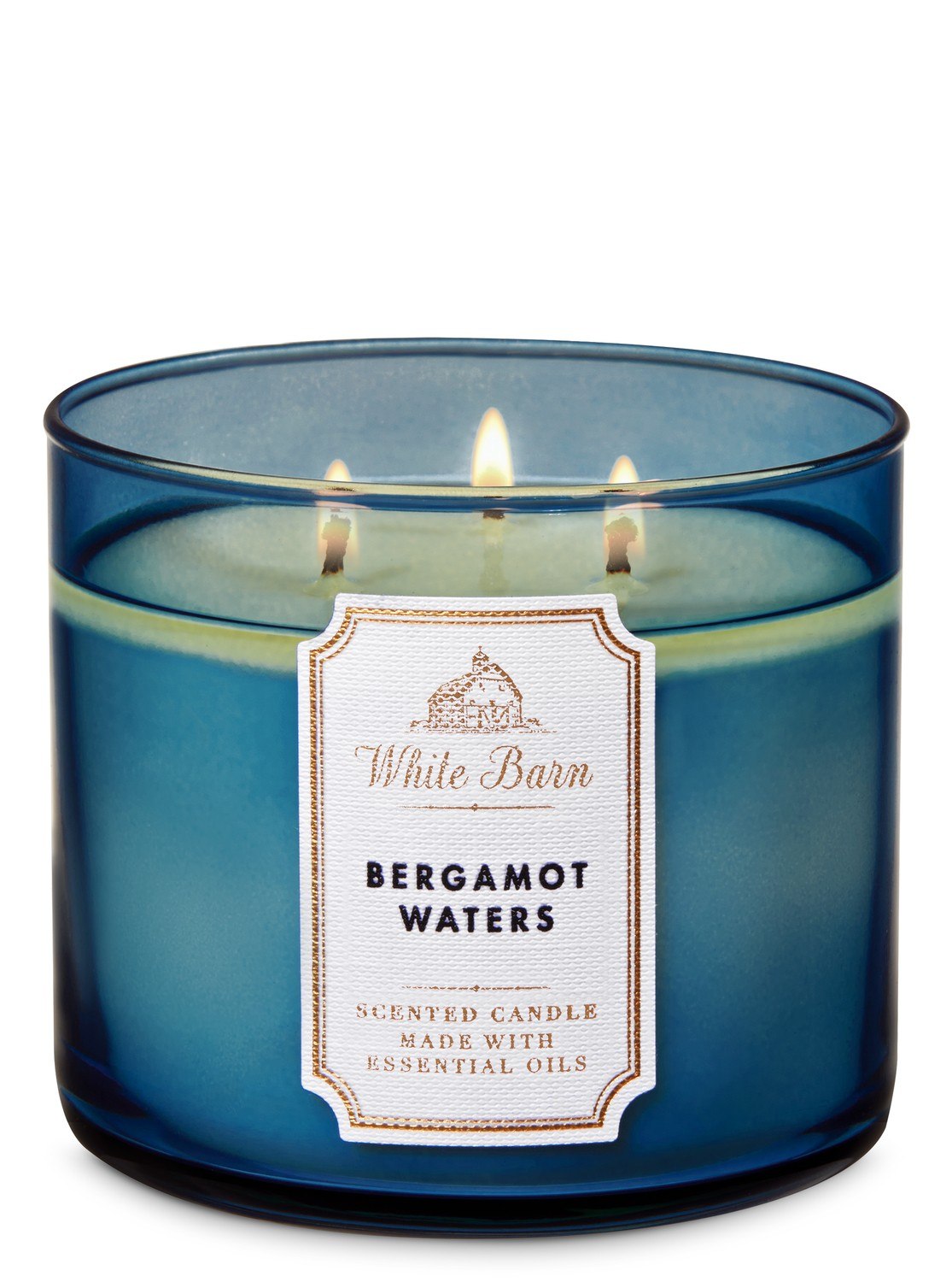 White Barn Bath and Body Works 3 Wick Scented Candle White Tea and Sage 14.5 Ounce
