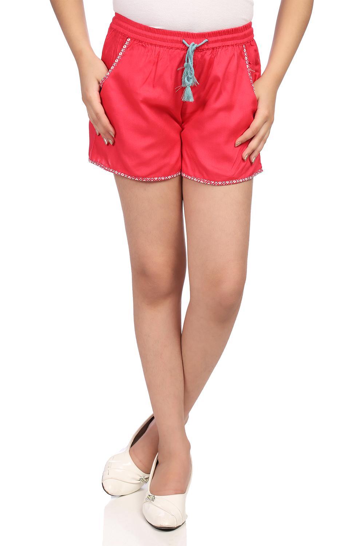 Coral Viscose Shorts - KW2763SS18CORAL