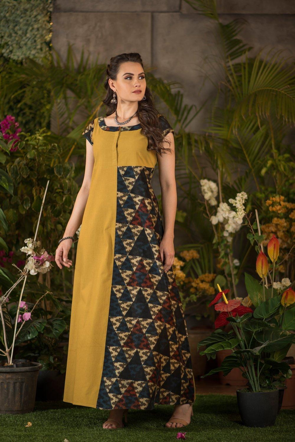 ajrakh collection cotton dress