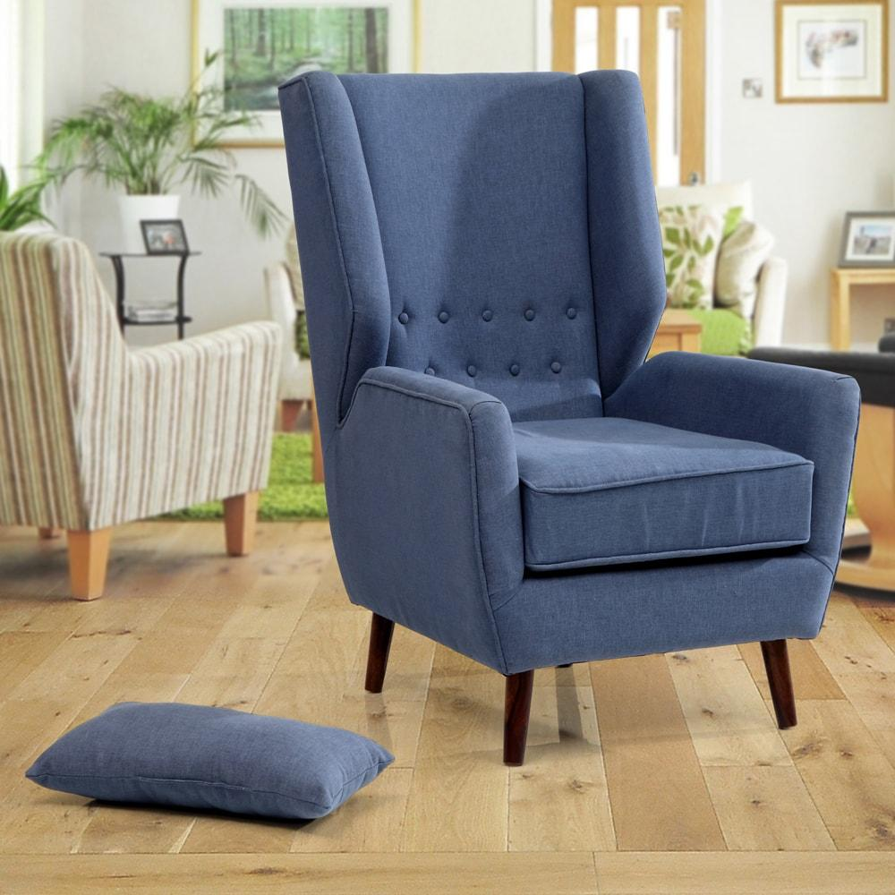 Alvin Solidwood Wing Chair -