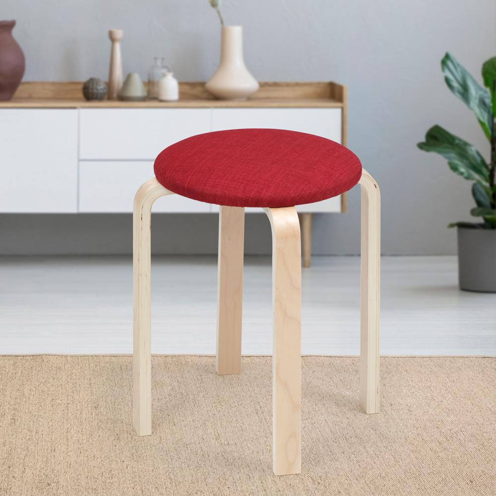 Oyster Round Stool- Red 1