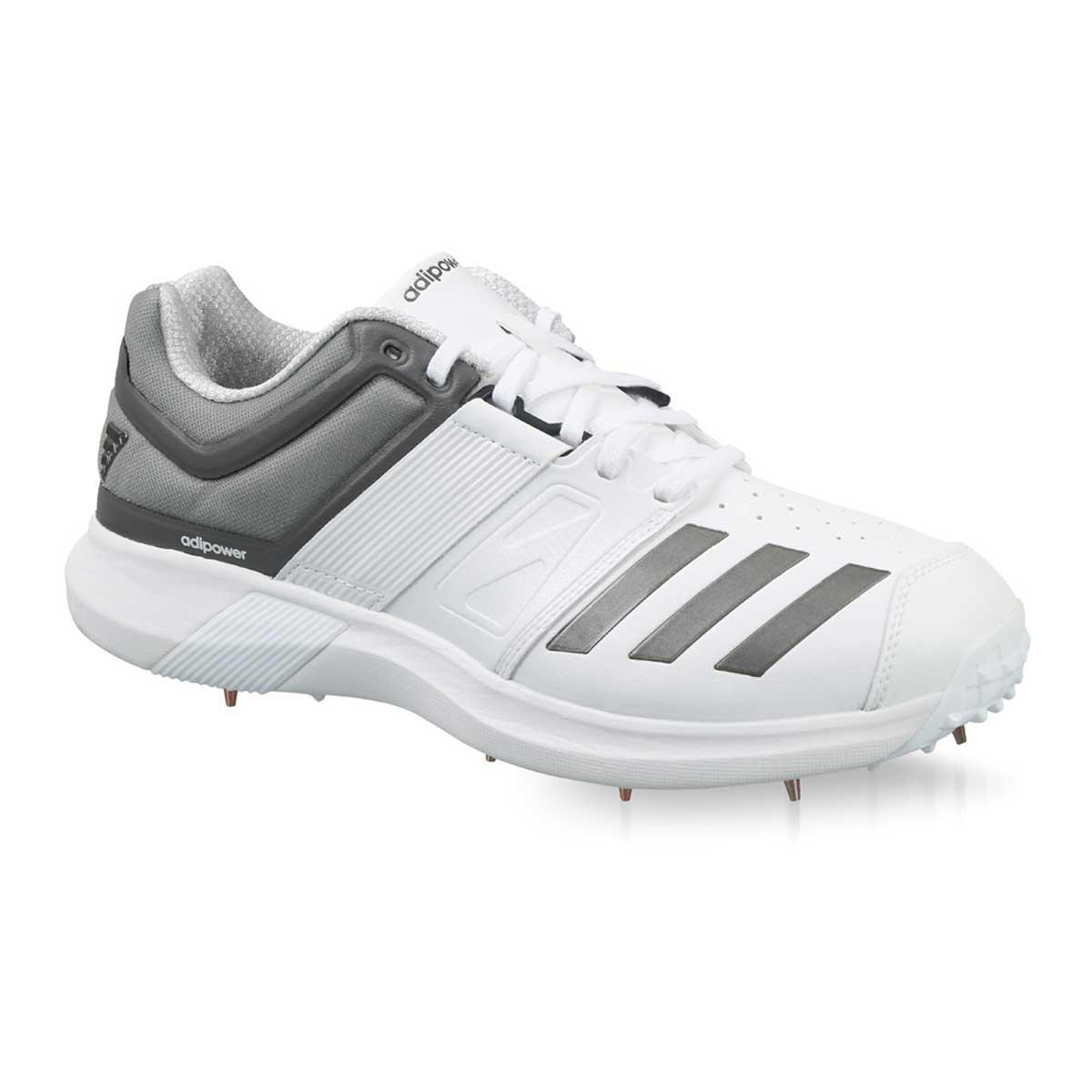 Adidas Adipower Vector Cricket Shoes (White/Grey)