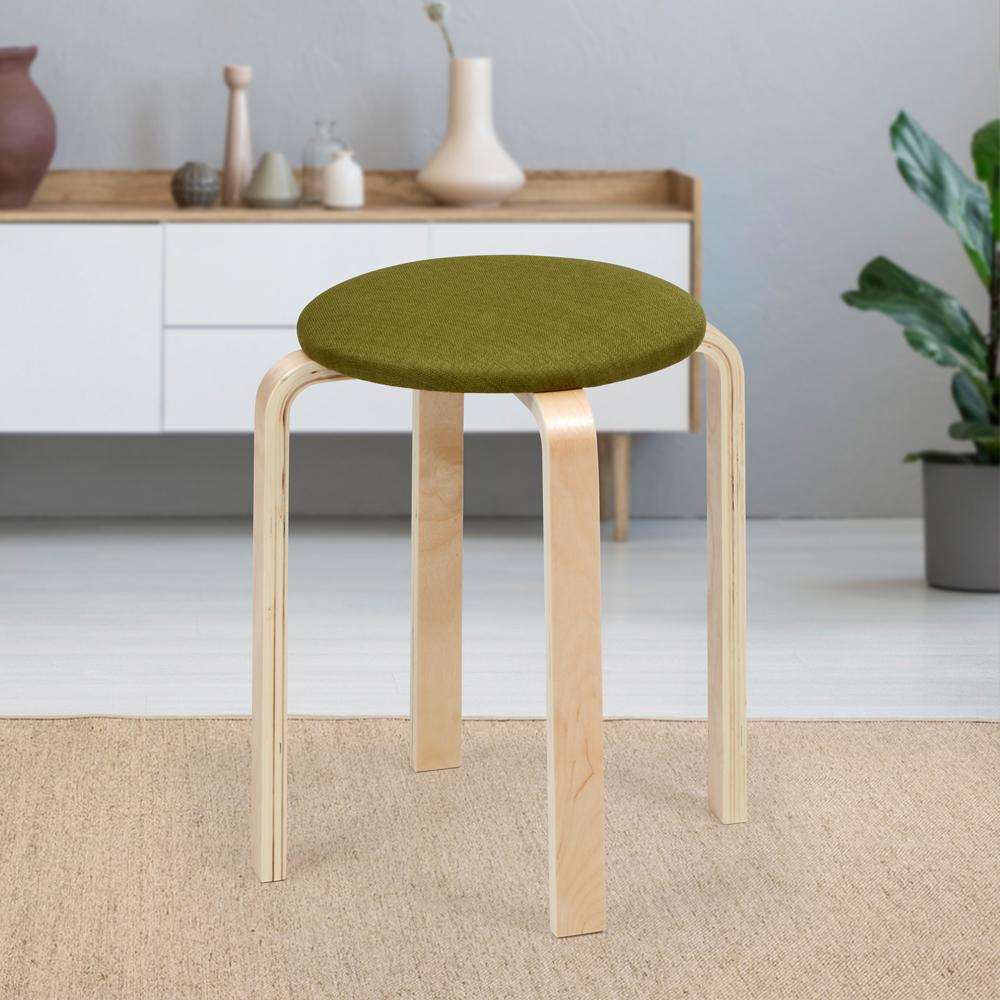 Oyster Round Stool- Green