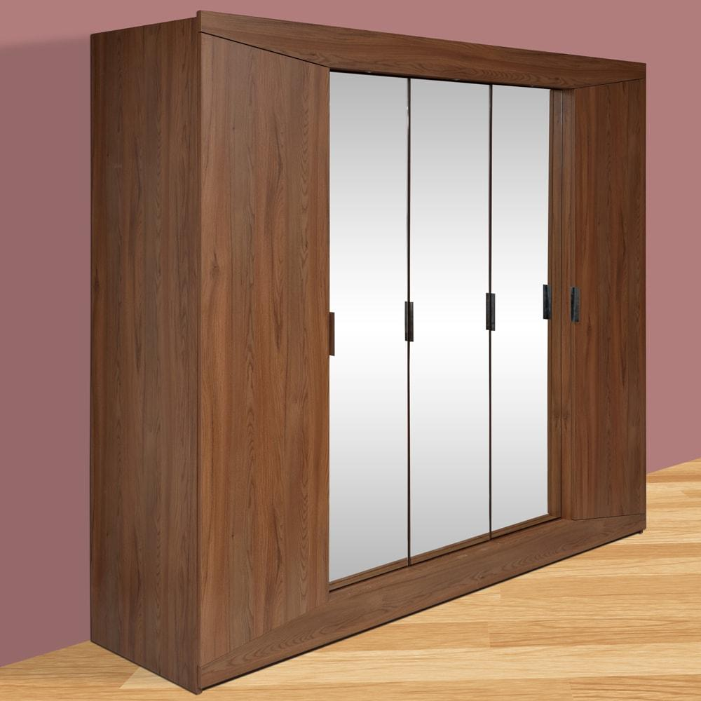 Buy Terence Engineerwood 5 Door Wardrobe-Walnut Online - Evok