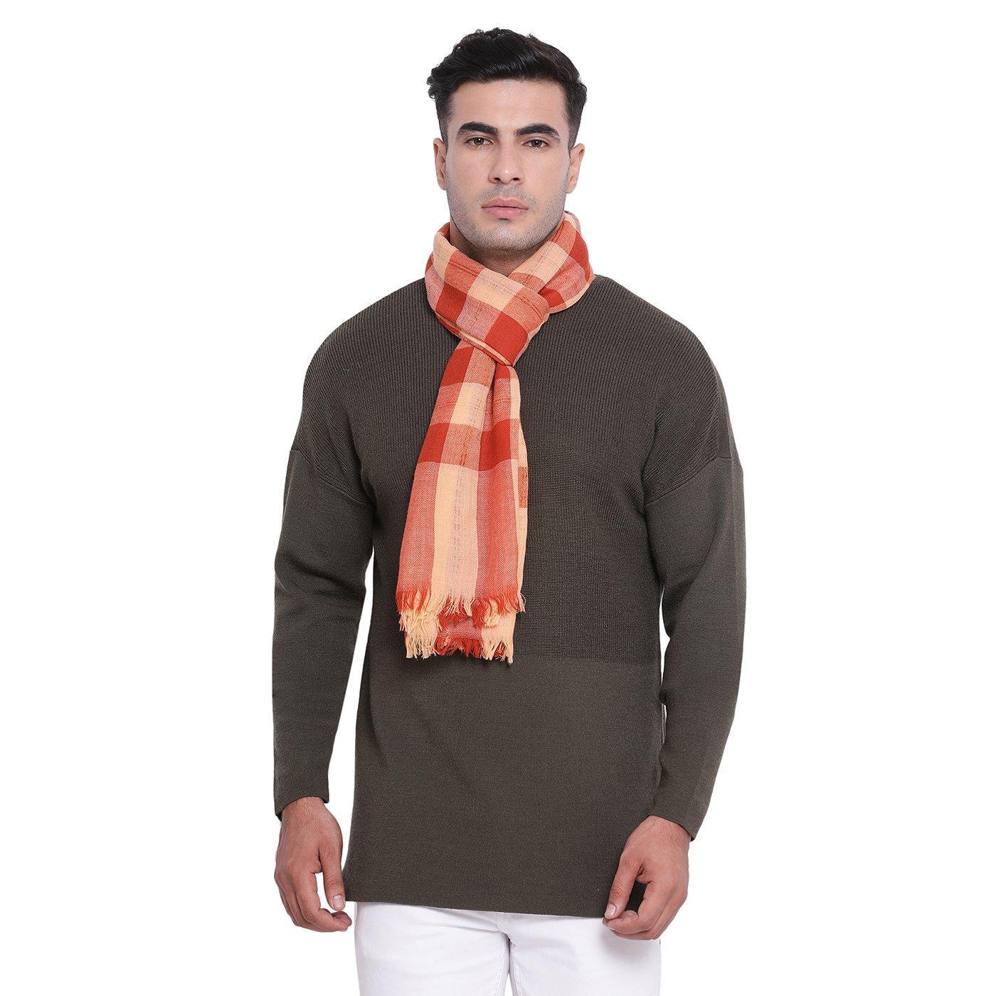 Buy Rupehla Rust Woolen Muffler Online