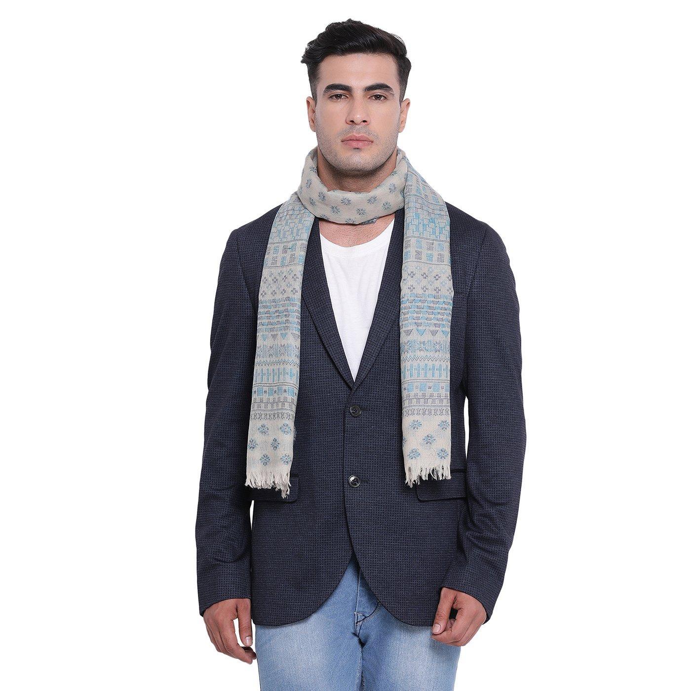 Buy Lakeer Beige Woolen Muffler Online