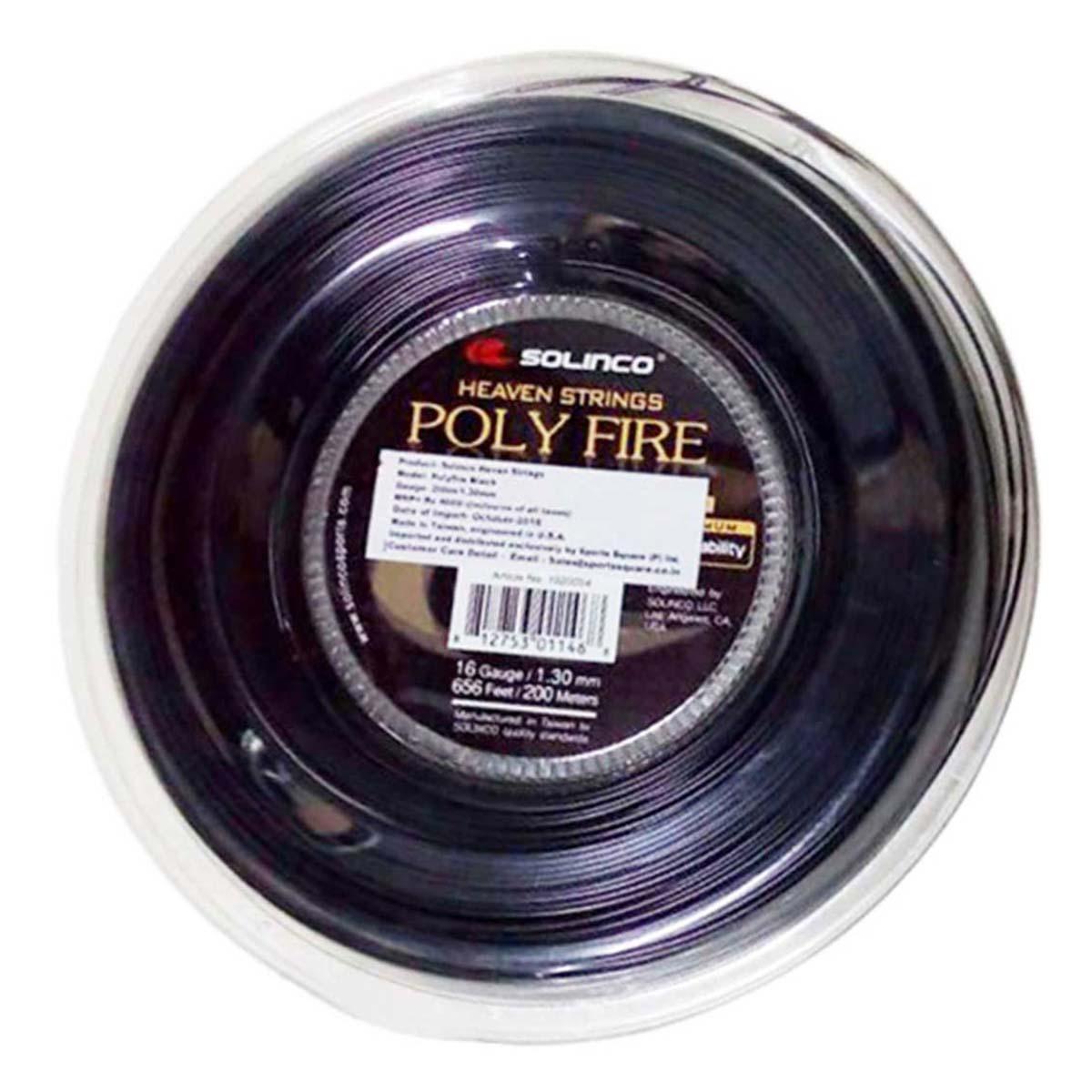 Buy Solinco Polyfire Tennis String 200 Meter Reel Black