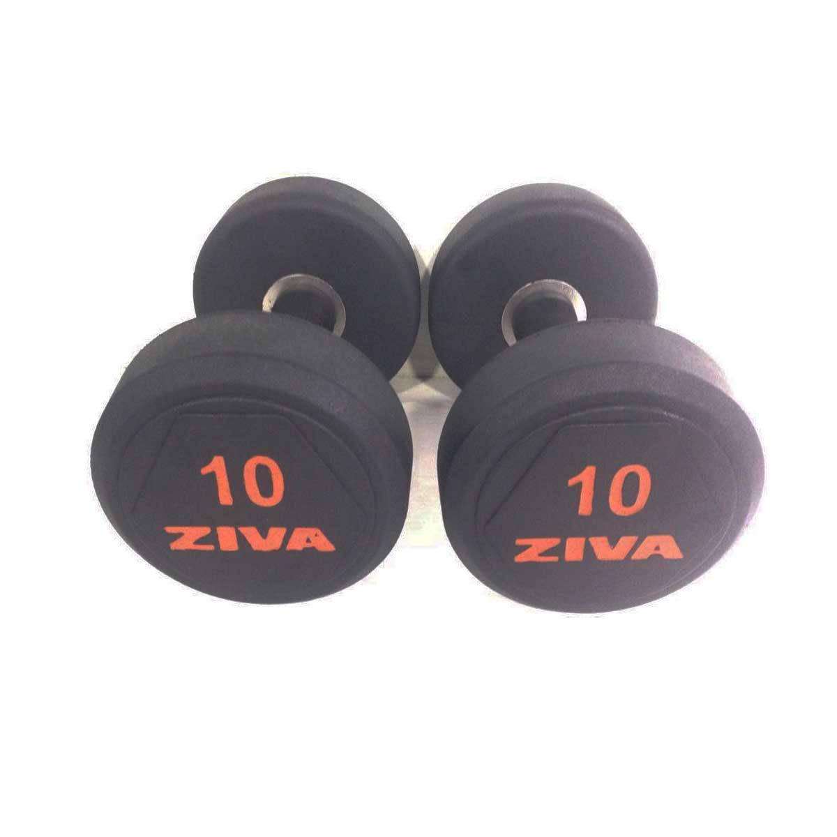 Buy Ziva Sl Solid Steel Rubber Dumbbell Set Online India