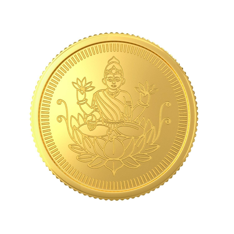 1 Gram 22 Kt Lakshmi Gold Coin