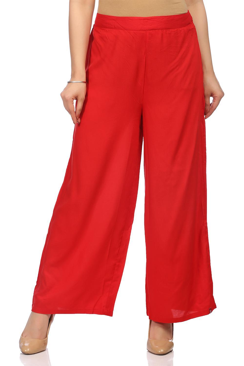 Red Viscose Palazzo - CORE13902SS18RED