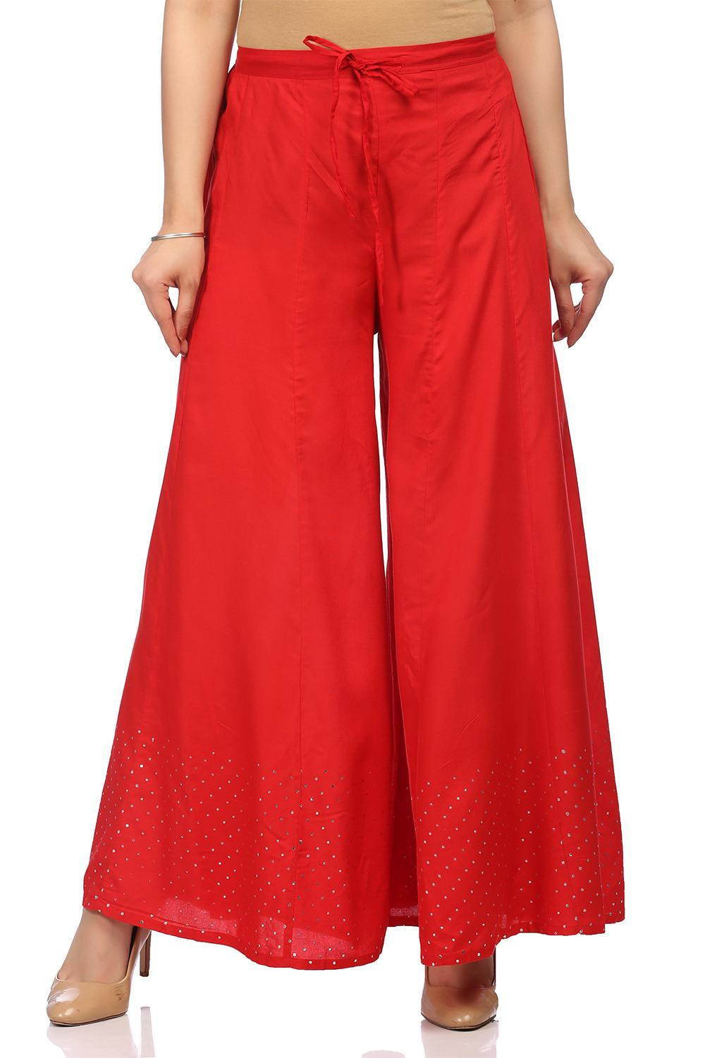 Red Viscose Palazzo - CORE13903SS18RED