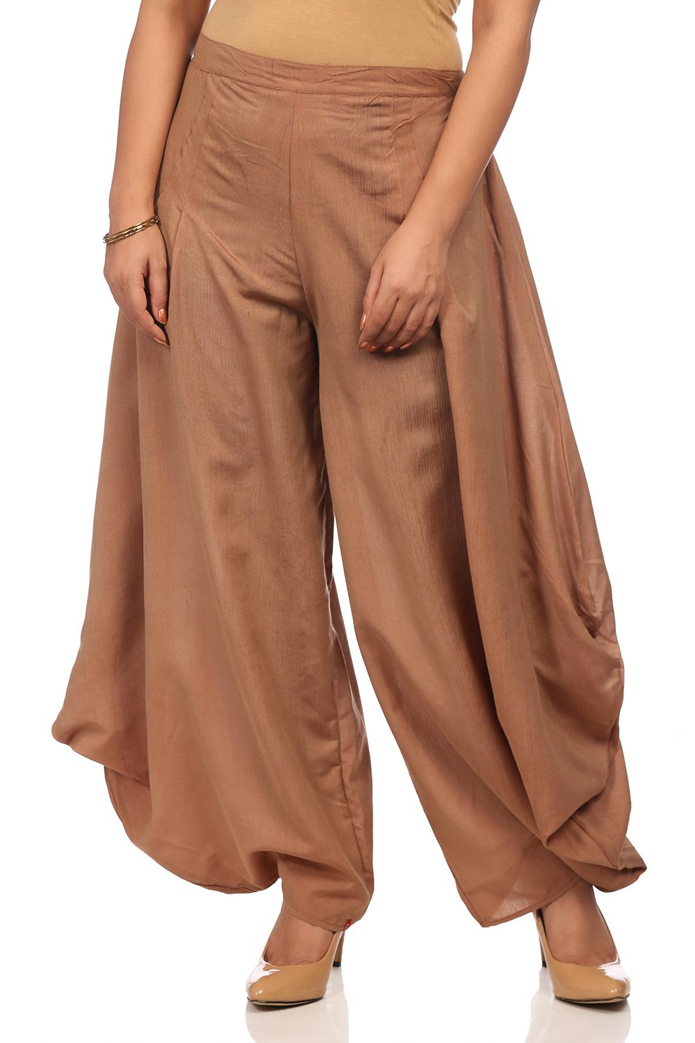 Onion Color Poly Viscose Flared Pants - CORE14481S