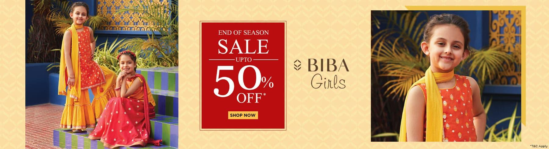 biba.in - Avail Flat 50% OFF on Biba Girls Ethnic