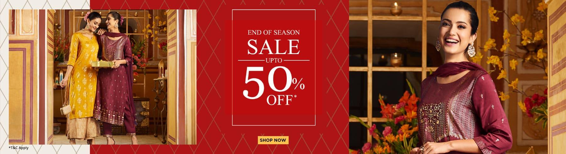 biba.in - Avail Flat 50% off on Women's Ethnic Fashion