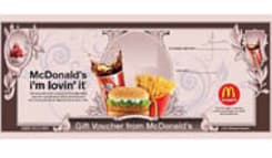 Restaurants,Mc,MC Donald's Gift Voucher