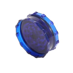 Blue Two Part Acrylic Magnetic Herb Grinder-60 mm