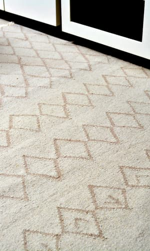 Clearance, The Carpet Cellar, Natural Undyed Durry<br>TCC-8302<br>5.10 Feet X 4.2 Feet