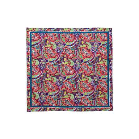 Circle Of Paisley Fuschia Pocket Square
