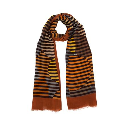 Blind Circle Brown Woolen Stole