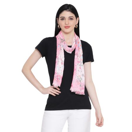 Dotted Blossom Pink Print Stole