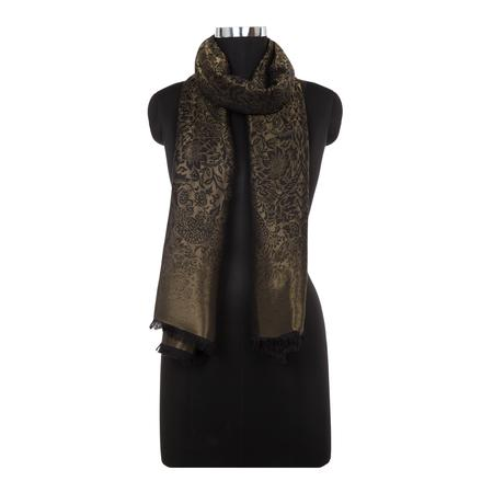 Pakshi Black Silk Metallic Stole