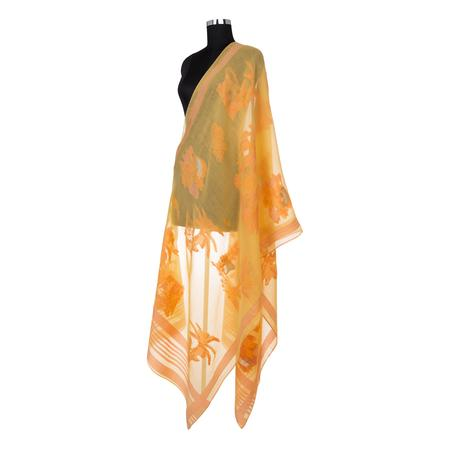 Leopard Toile Peach Antiviral Coating Dupatta