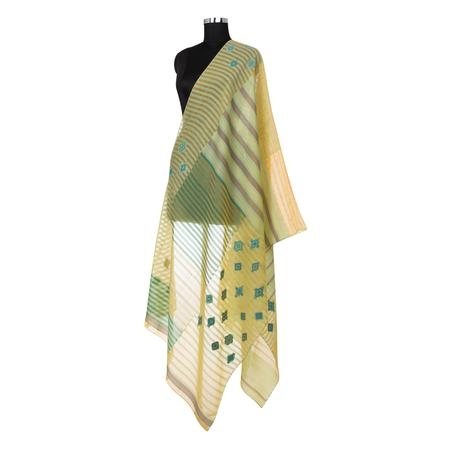Checkered Yellow Dupatta