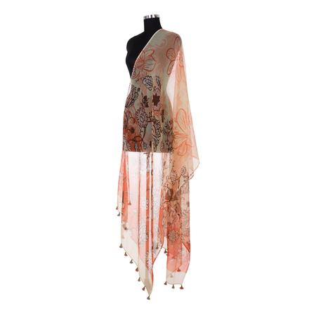 Natural Splendor Orange Dupatta