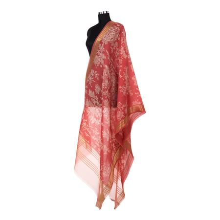 Magic Garden Maroon Dupatta