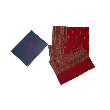 Red Ethnic Motif Kani Shawl