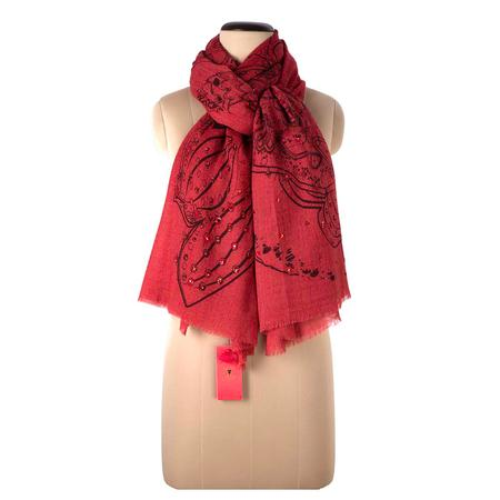 Red Drive Shawl