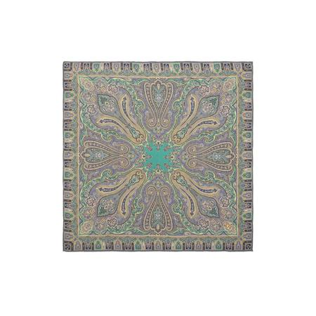Graffiti Agra Turquoise Pocket Square