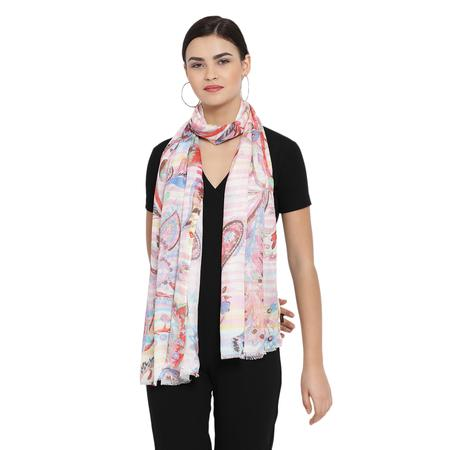 Shadow Line Pink Stole