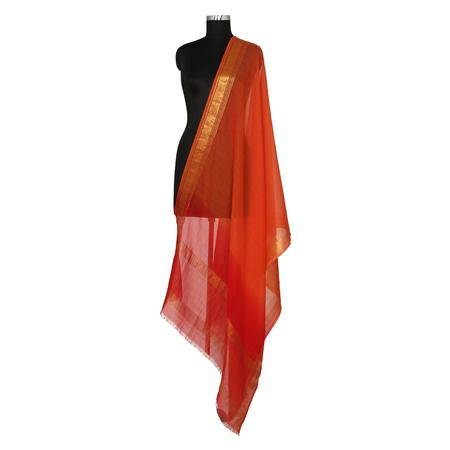 Zari Ombre Orange Dupatta