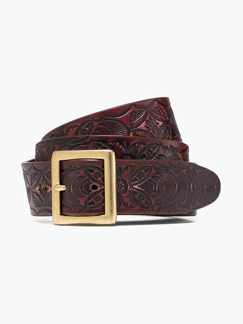 Made In Japan Western Tooled Belt- Men