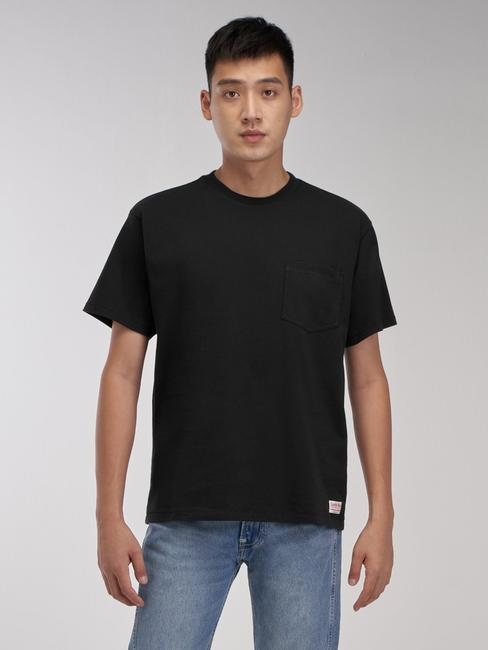 Levi's® Red系列 男士復古短袖 黑色TEE