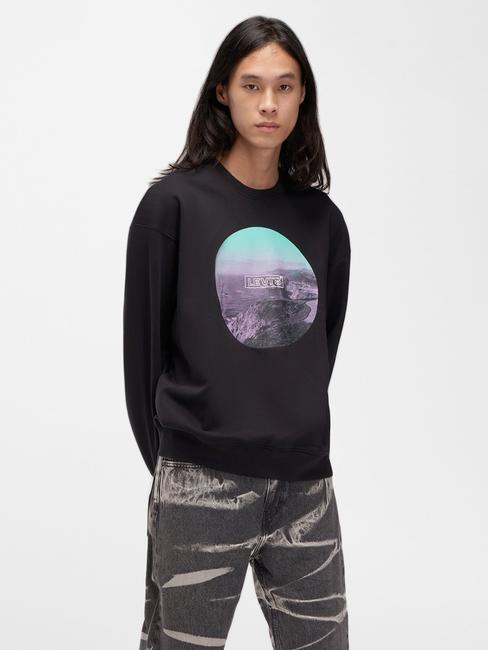 Relaxed Graphic Crewneck Sweatshirt