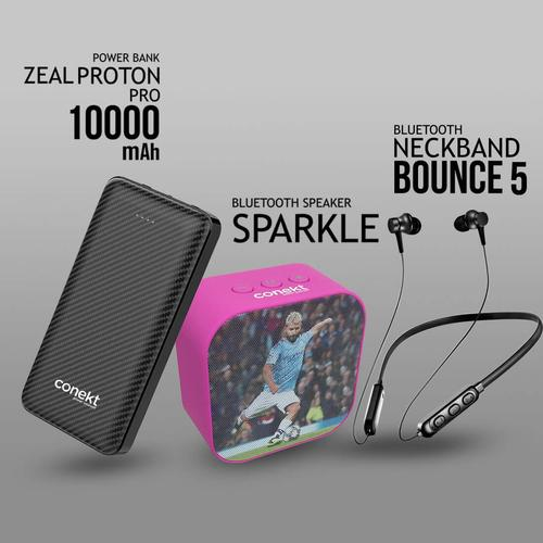 Power bank Bluetooth speaker and neckband combo of