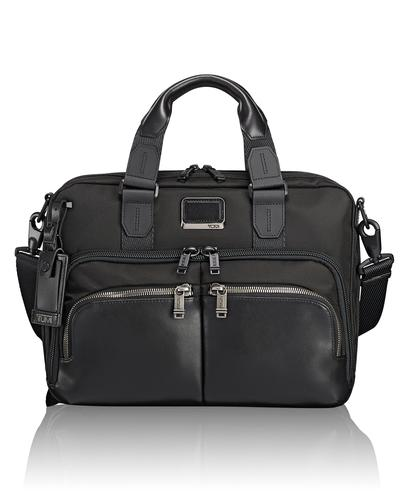 TUMI Singapore Black Albany Slim Commuter Brief