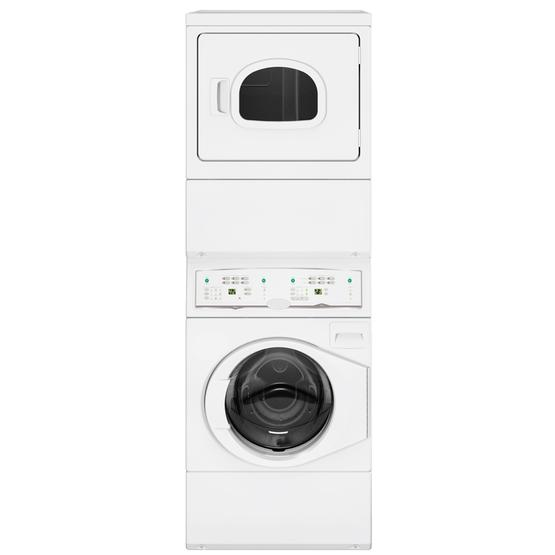 Stacked Washer Extractor and Tumbler Dryer without