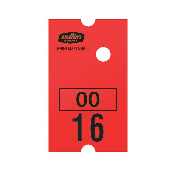 Cls # Tag Roll Red 10000 Tags/Box