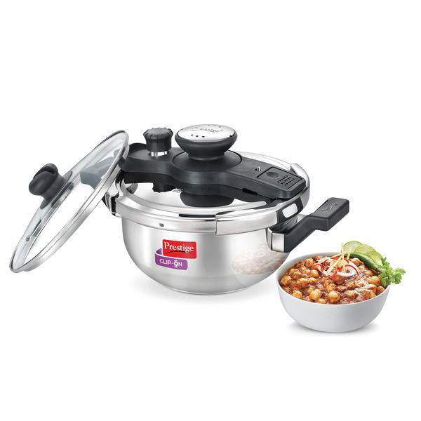 Prestige Kadai Clip-on Stainless Steel- 3.5 Litres