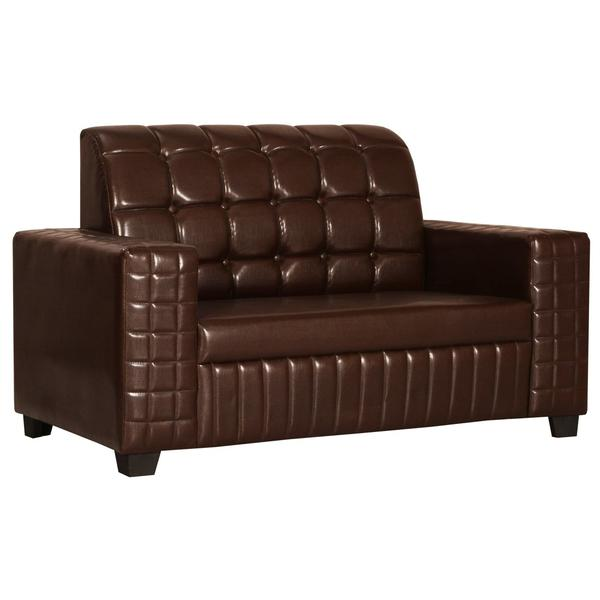 Bharat Lifestyle Apollo Leatherette 2 Seater Sofa (Color-Brown)